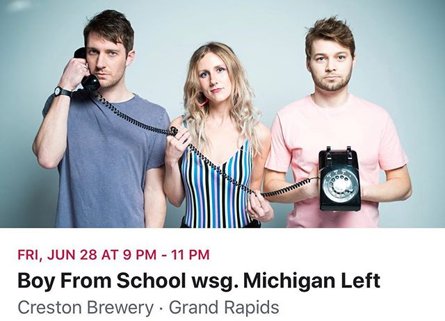Tonight! Free show, come hang 😊  @michigan.left @crestonbrewery