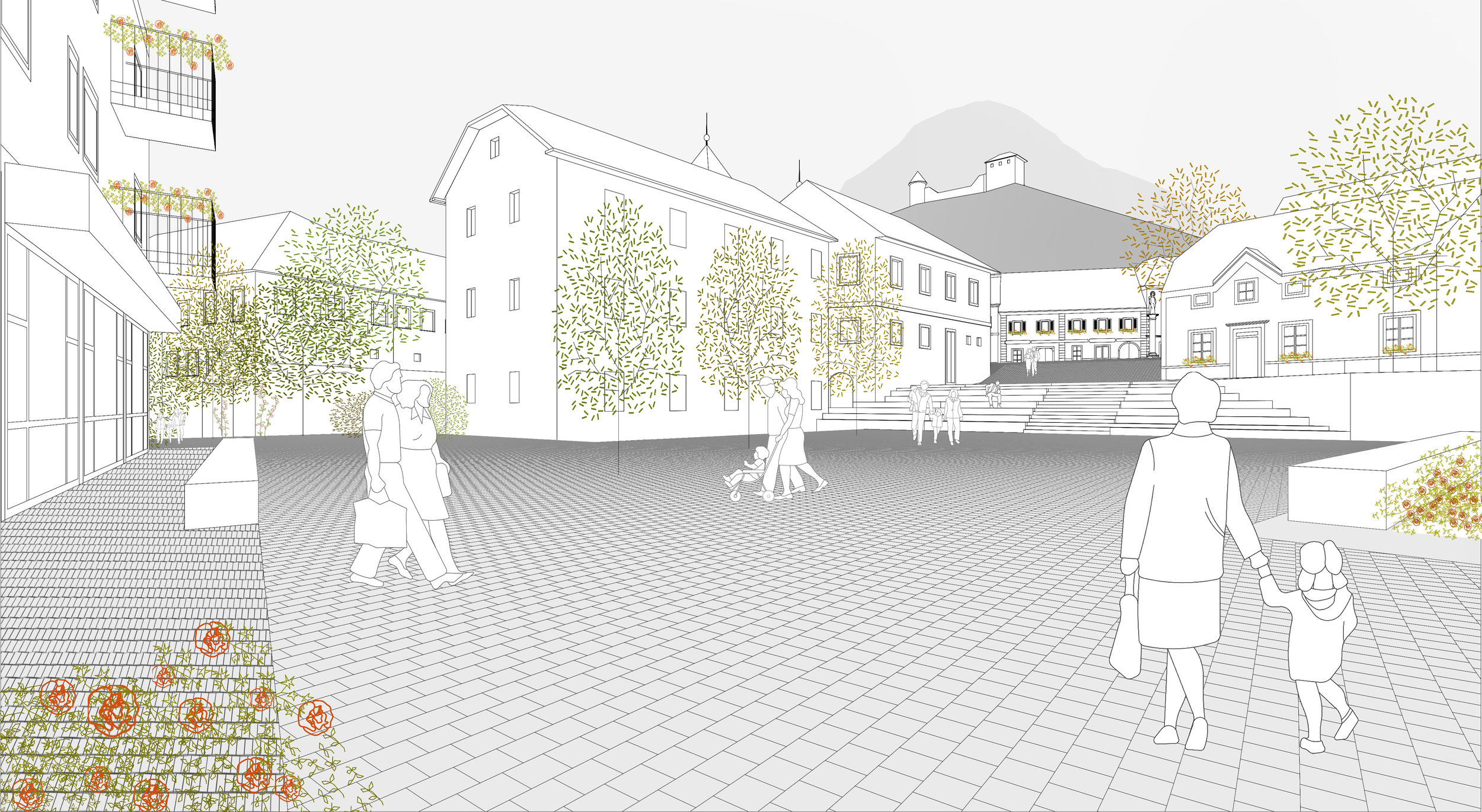 PUBLIC COMPETITION FOR A CITY CENTRE OF LAŠKO    3rd Prize  May 2019