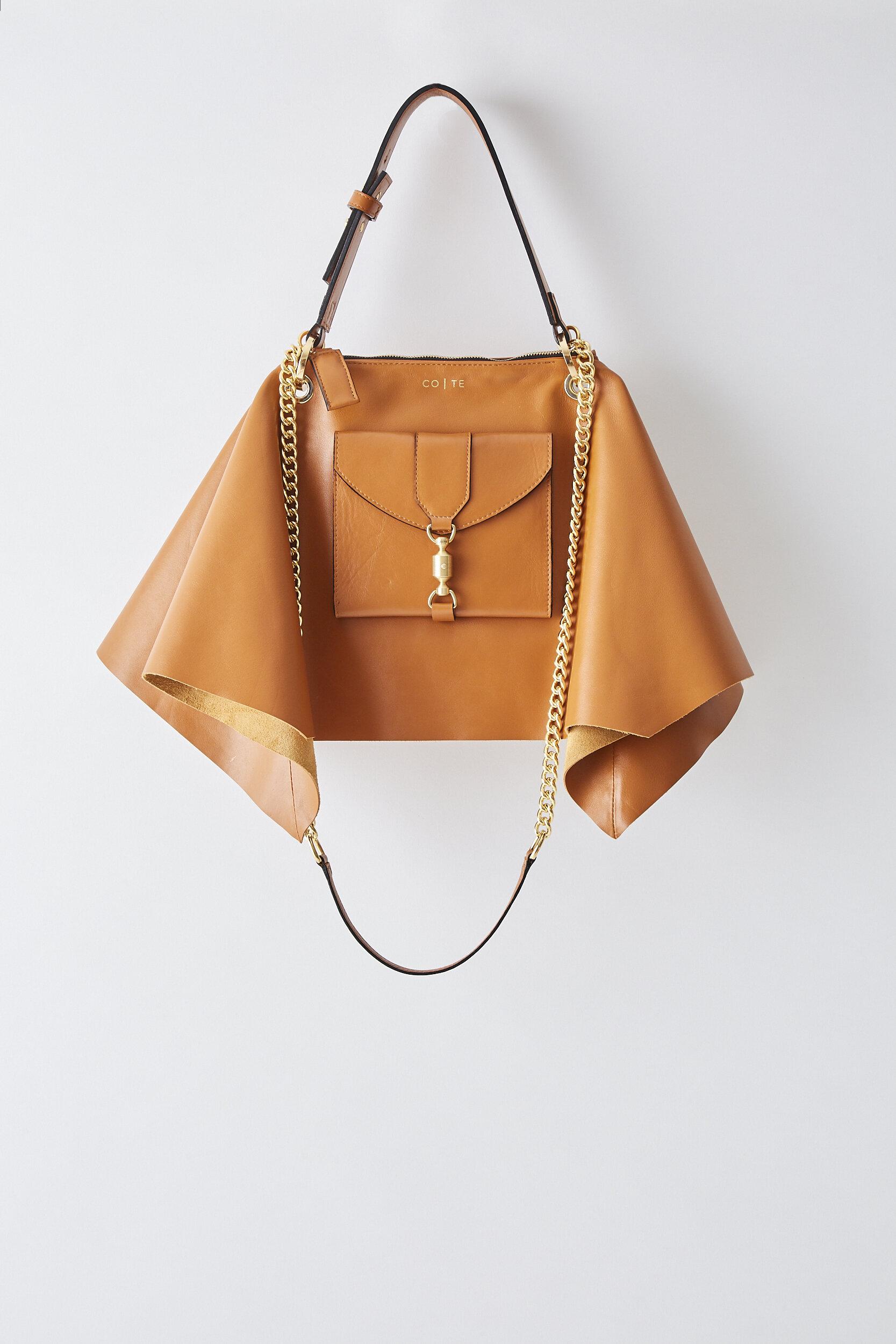 COTE SS2020 Foulard Bag Camel