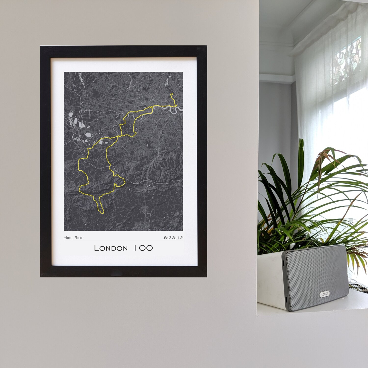 Strava pRINTS - cYCLING - Just choose the 'ANY' version of the style you prefer. Choose your map colour and framing options. Then add any personalised text you would like to appear and your link to the Strava cycle you would like to print. It's that simple!