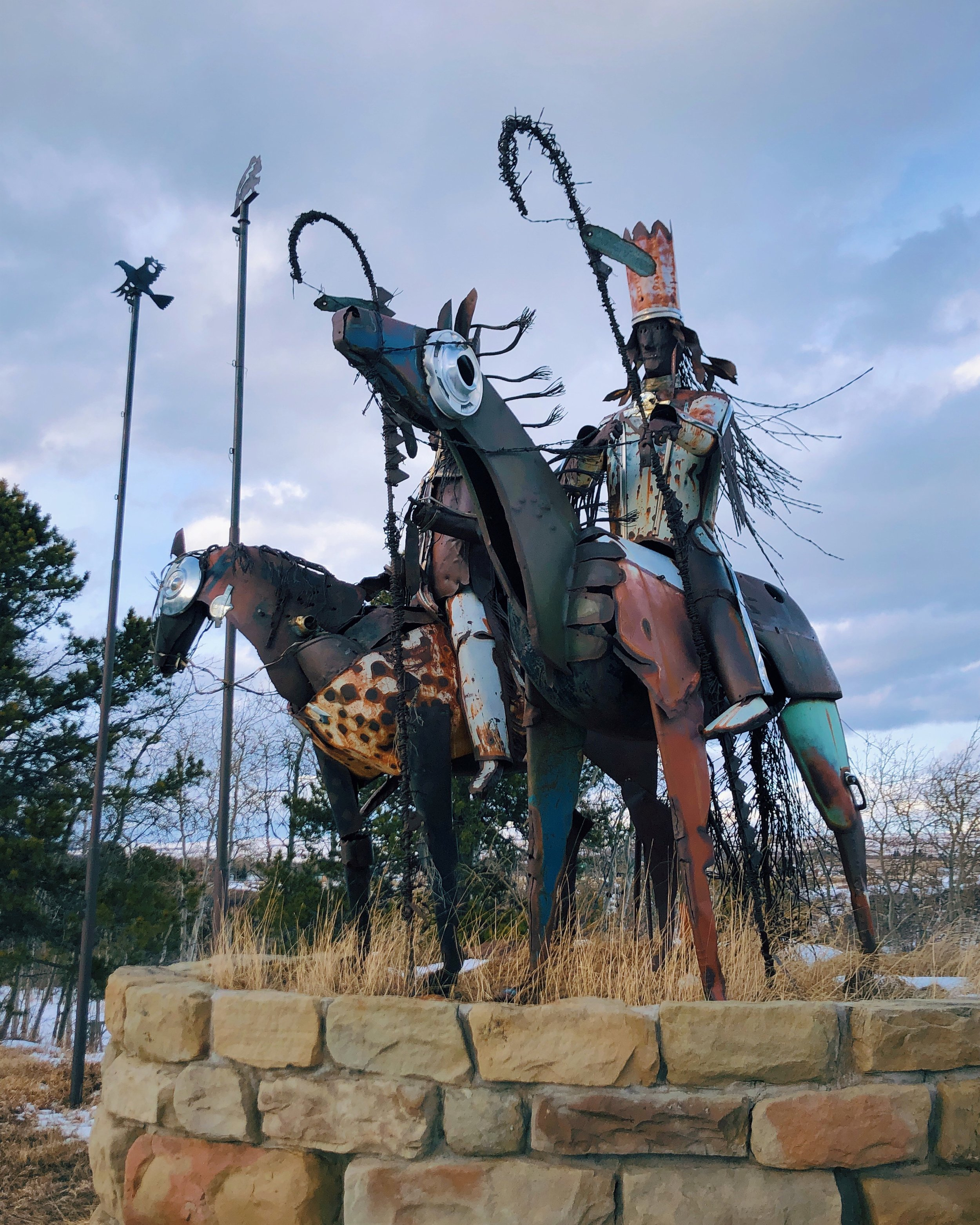 Blackfeet Warrior Statues