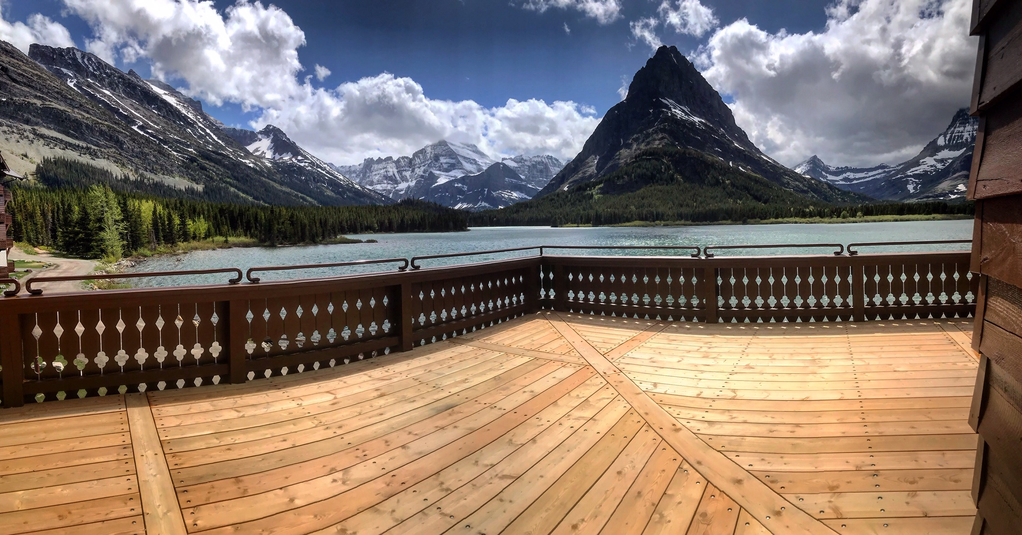 Many Glacier Hotel Porch