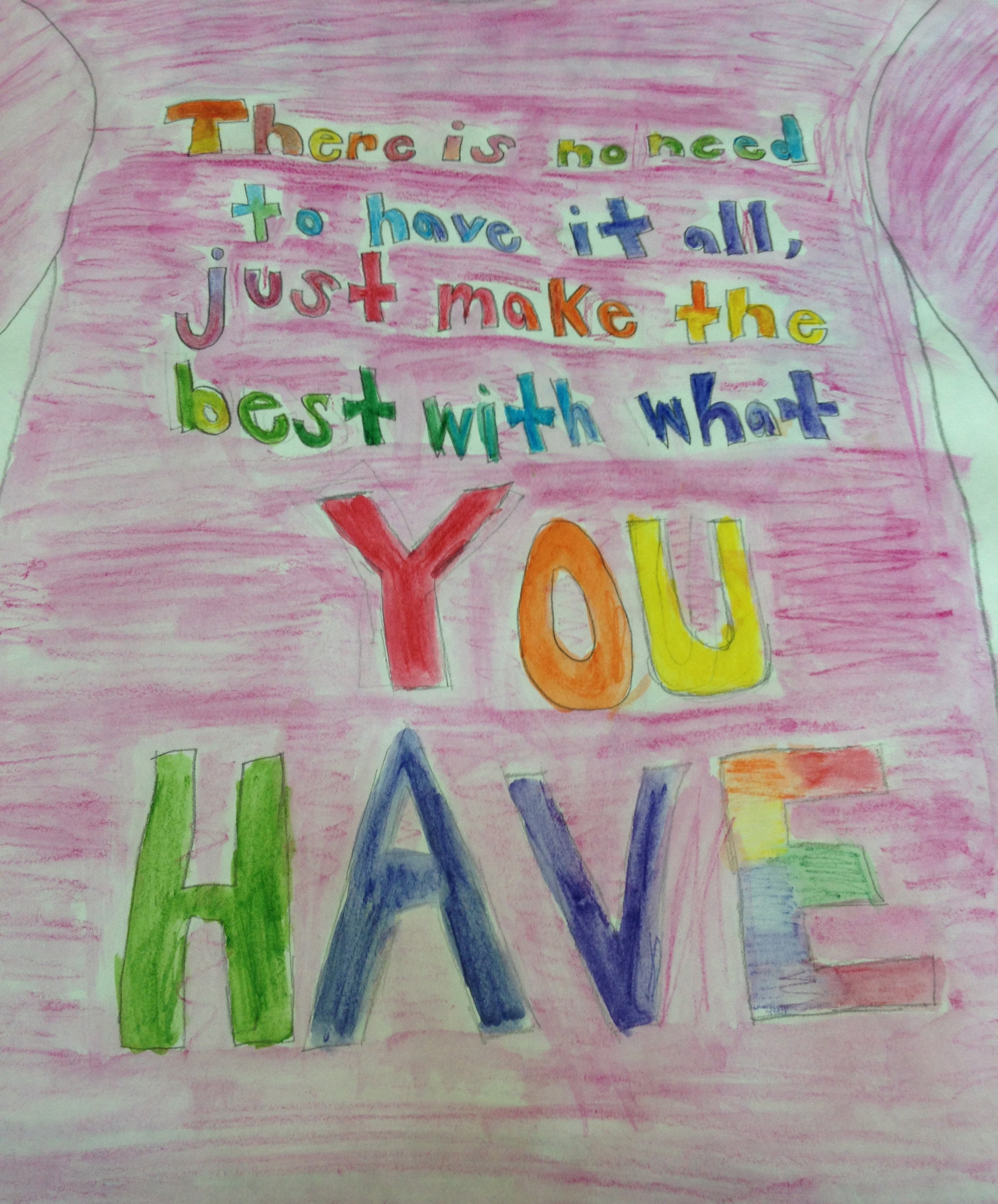 T-Shirt Designs, here and below, by St. Andrew's School 7th graders