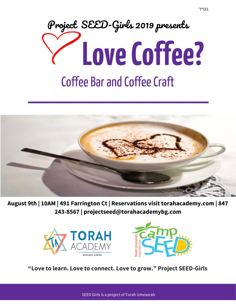 If you love coffee, you´ll be in coffee heaven!  Aromatic coffee bar, coffee cakes, and coffee crafts!                 $10