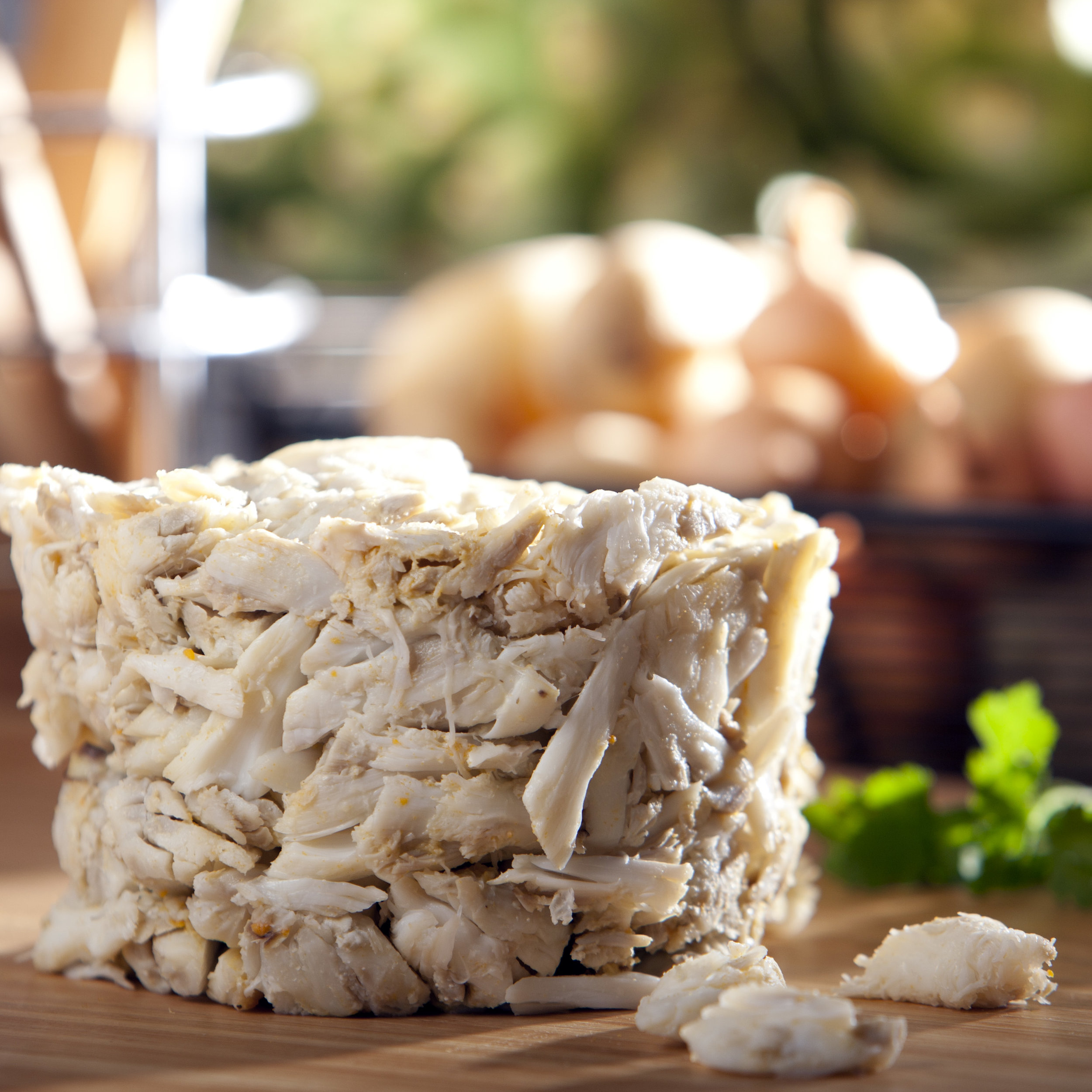 Fresh Jumbo Lump & Backfin Lump Crabmeat.  Available in 16 oz. & 8 oz. offerings.