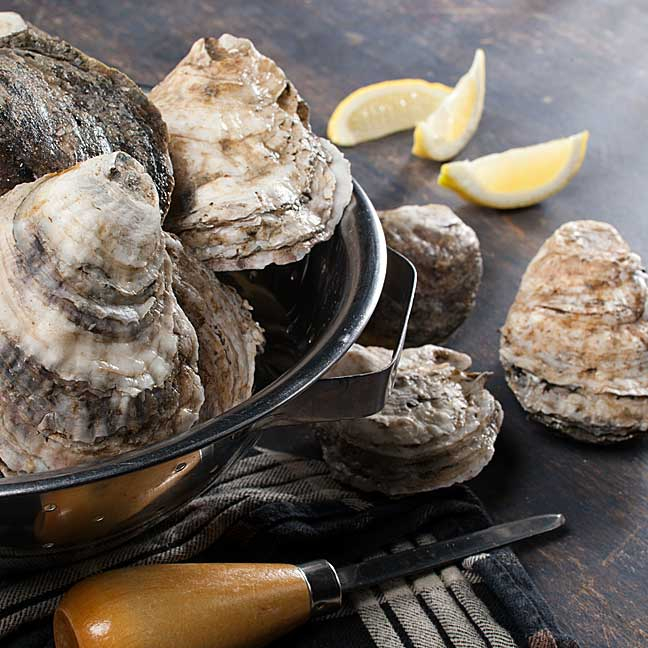 Our York River Oysters are a wild caught oyster that is harvested daily.  We offer them by the dozen, 100 Count or bushel.