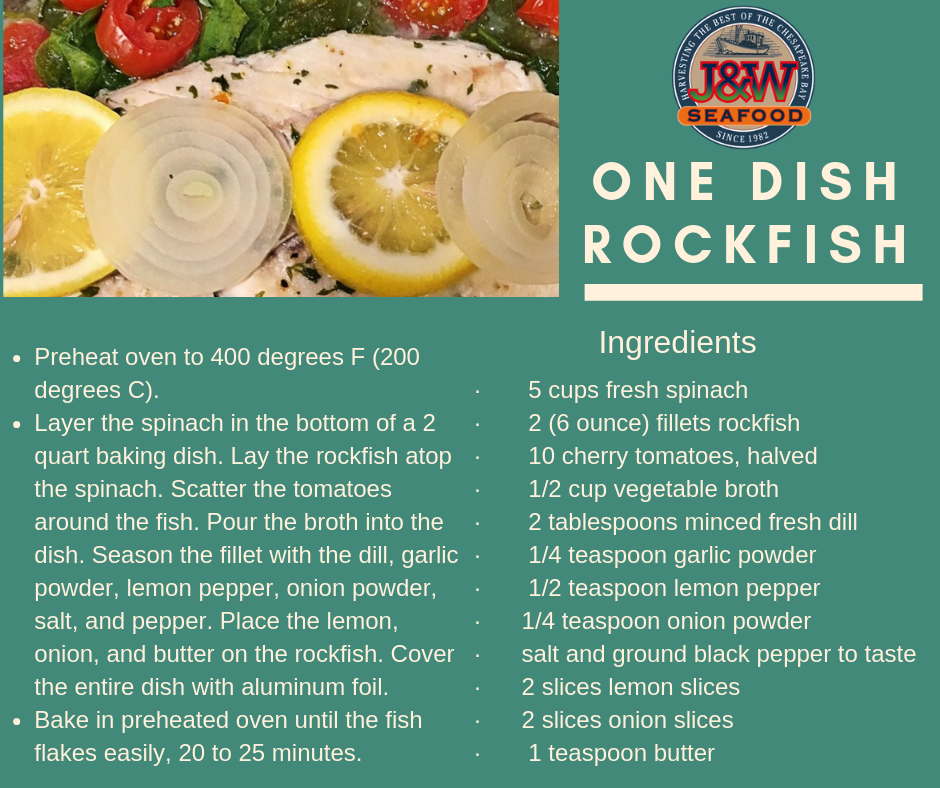 One Dish Rock Fish Recipe