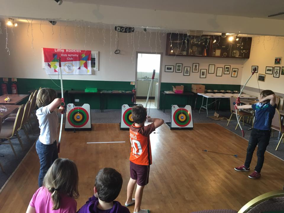 Indoor archery in the rain
