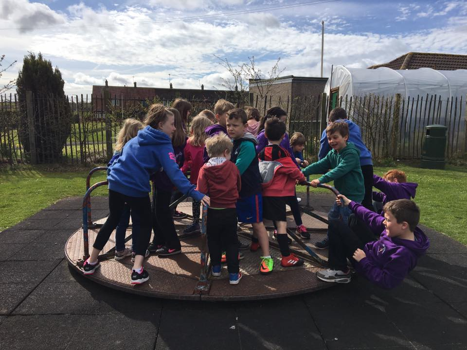 How many kids can you fit on a roundabout?