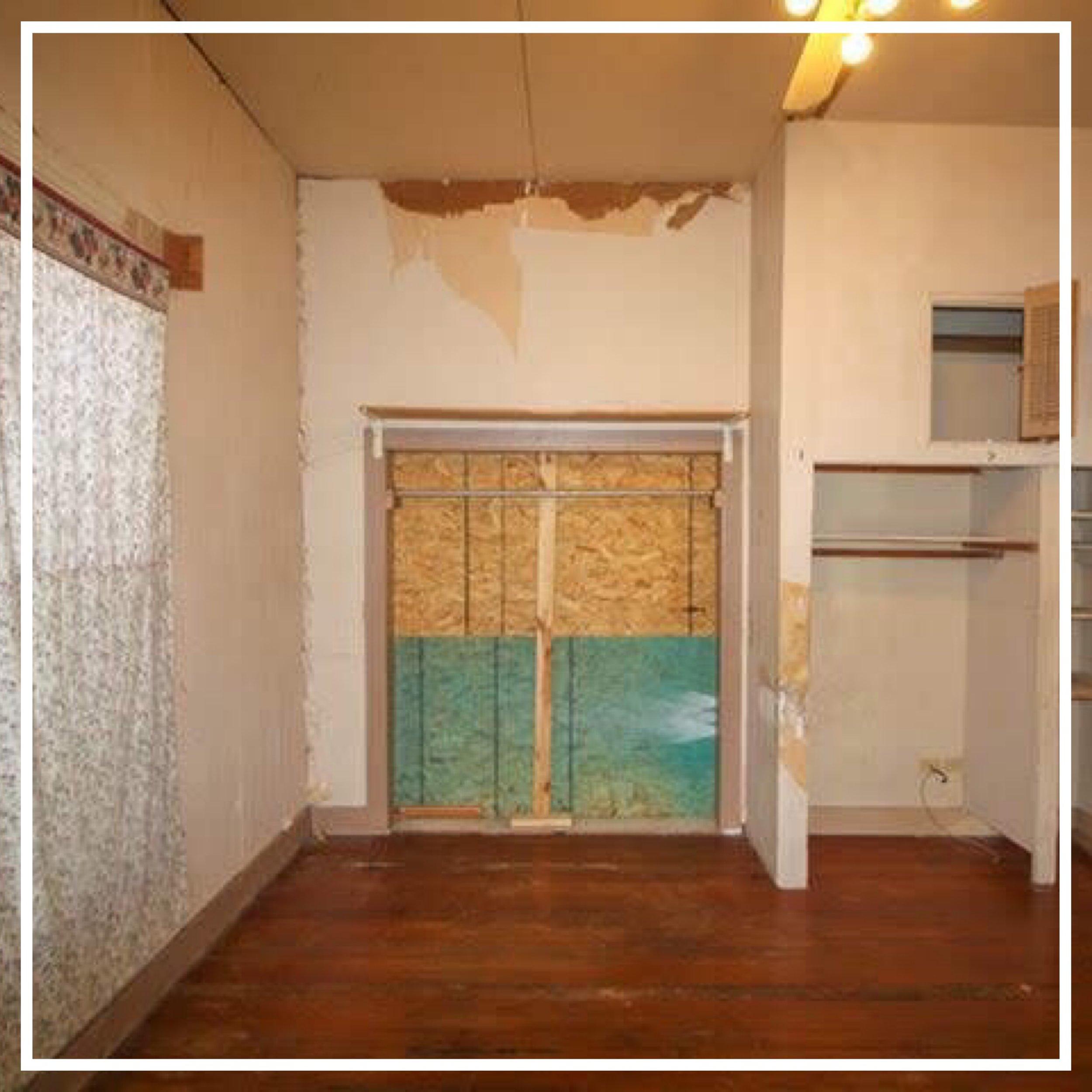 interior bedroom before photo