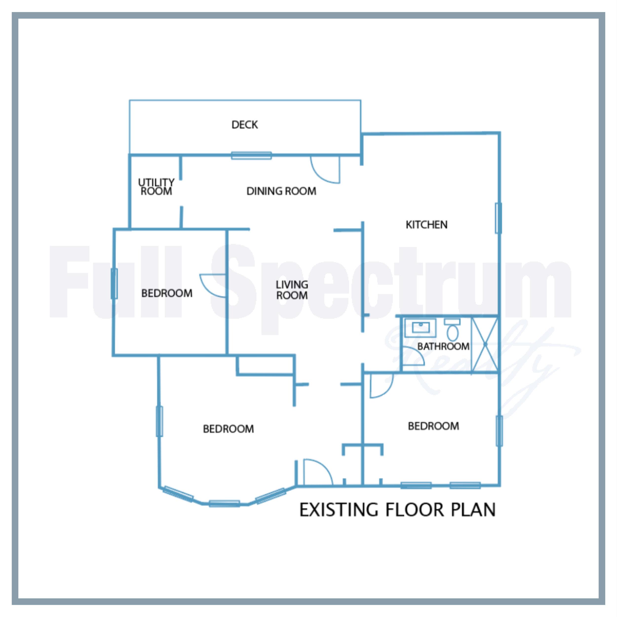Original historic floor plan