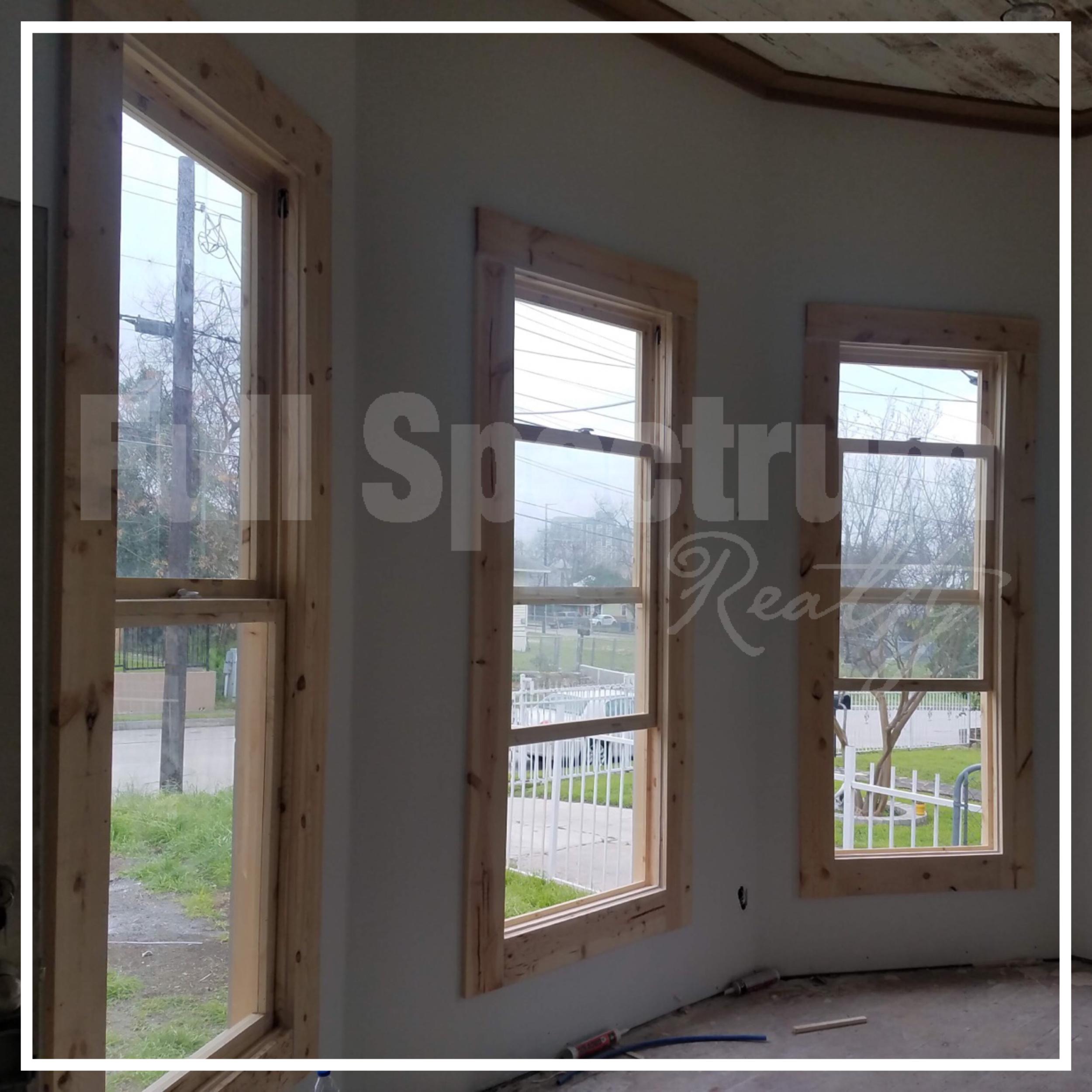 Wood windows installation
