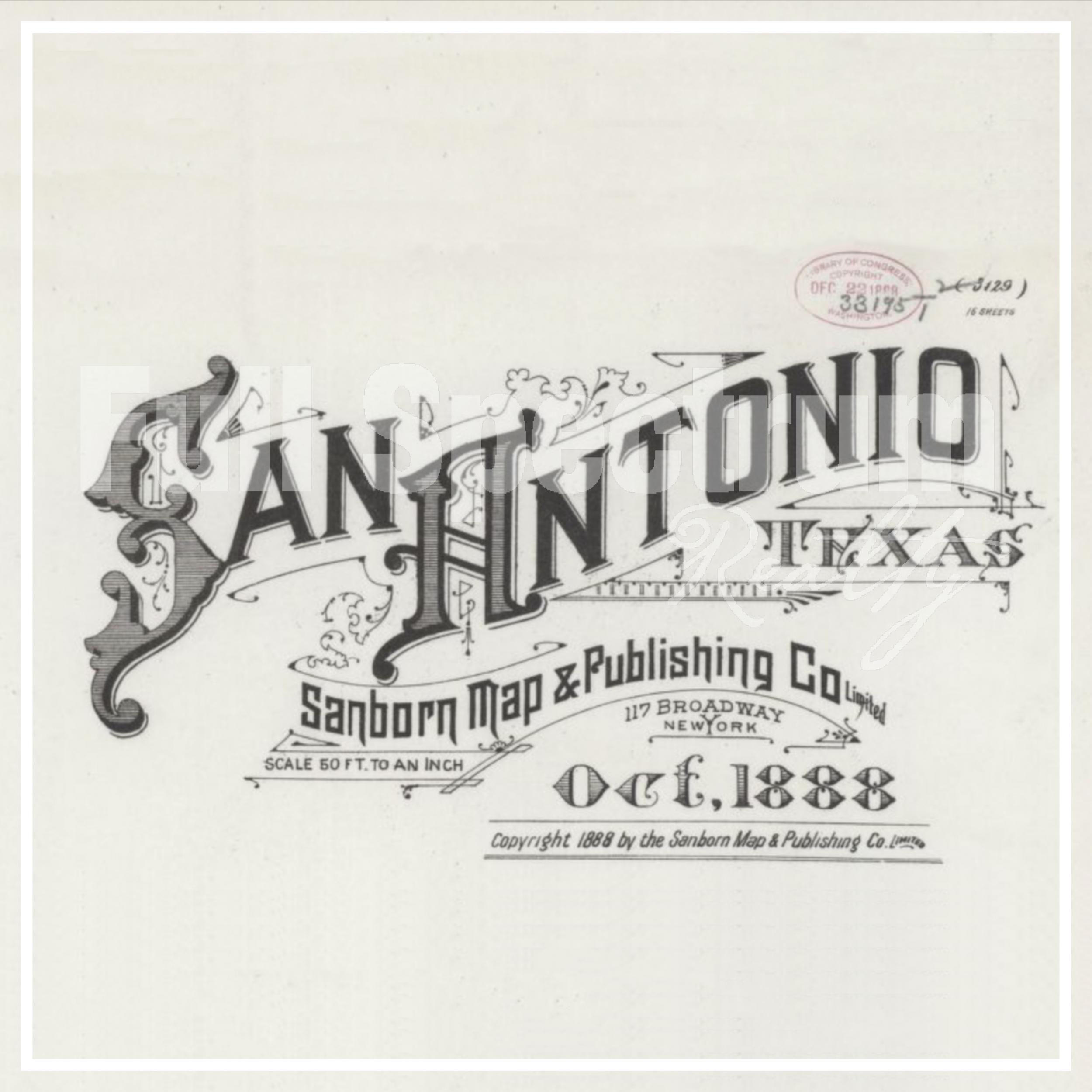 San Antonio sanborn maps