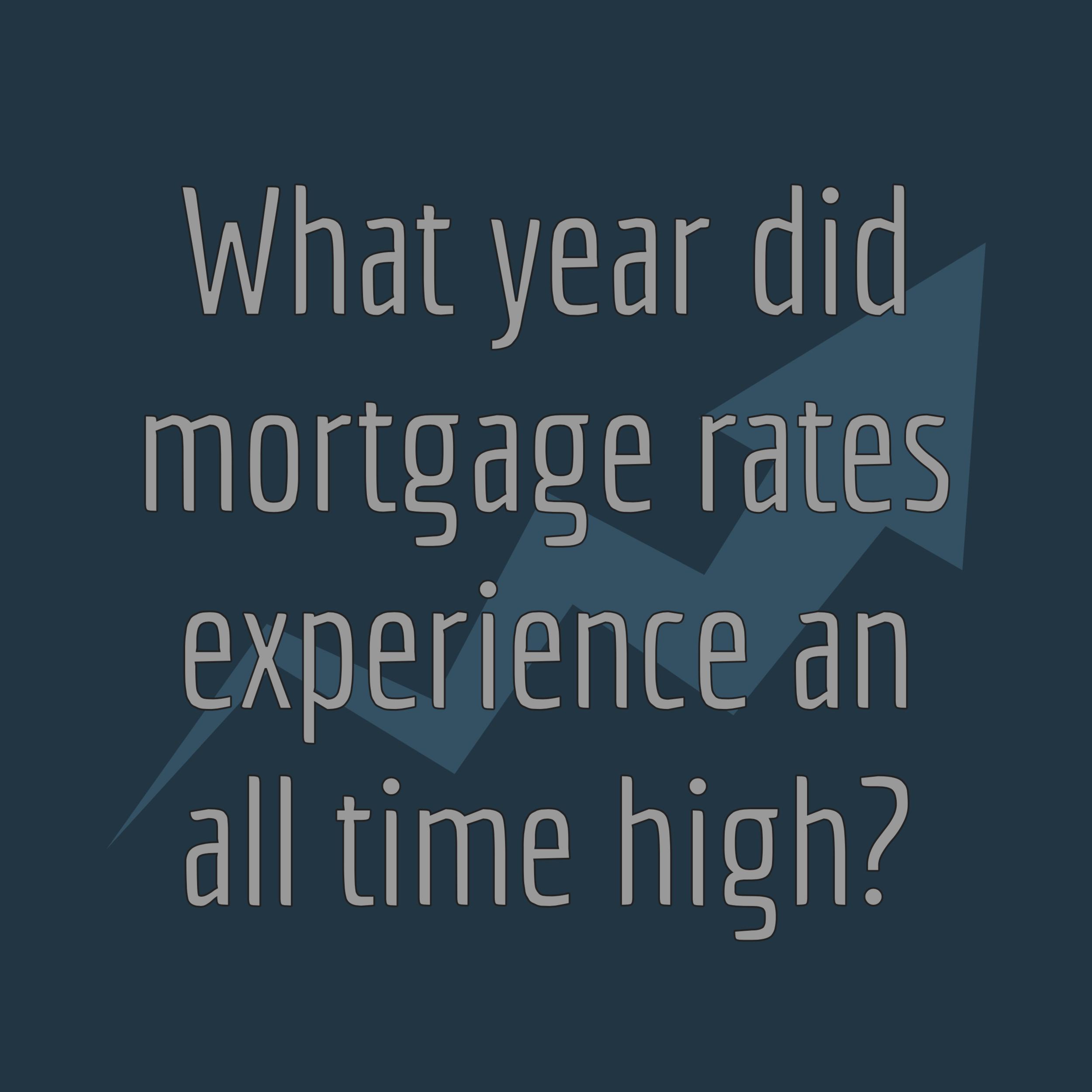 historic high interest rates