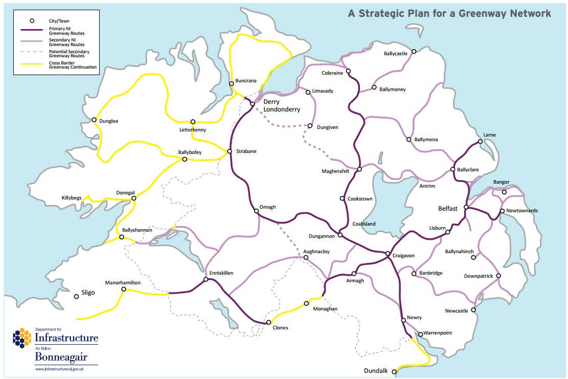 Proposed Greenways in NI & Beyond