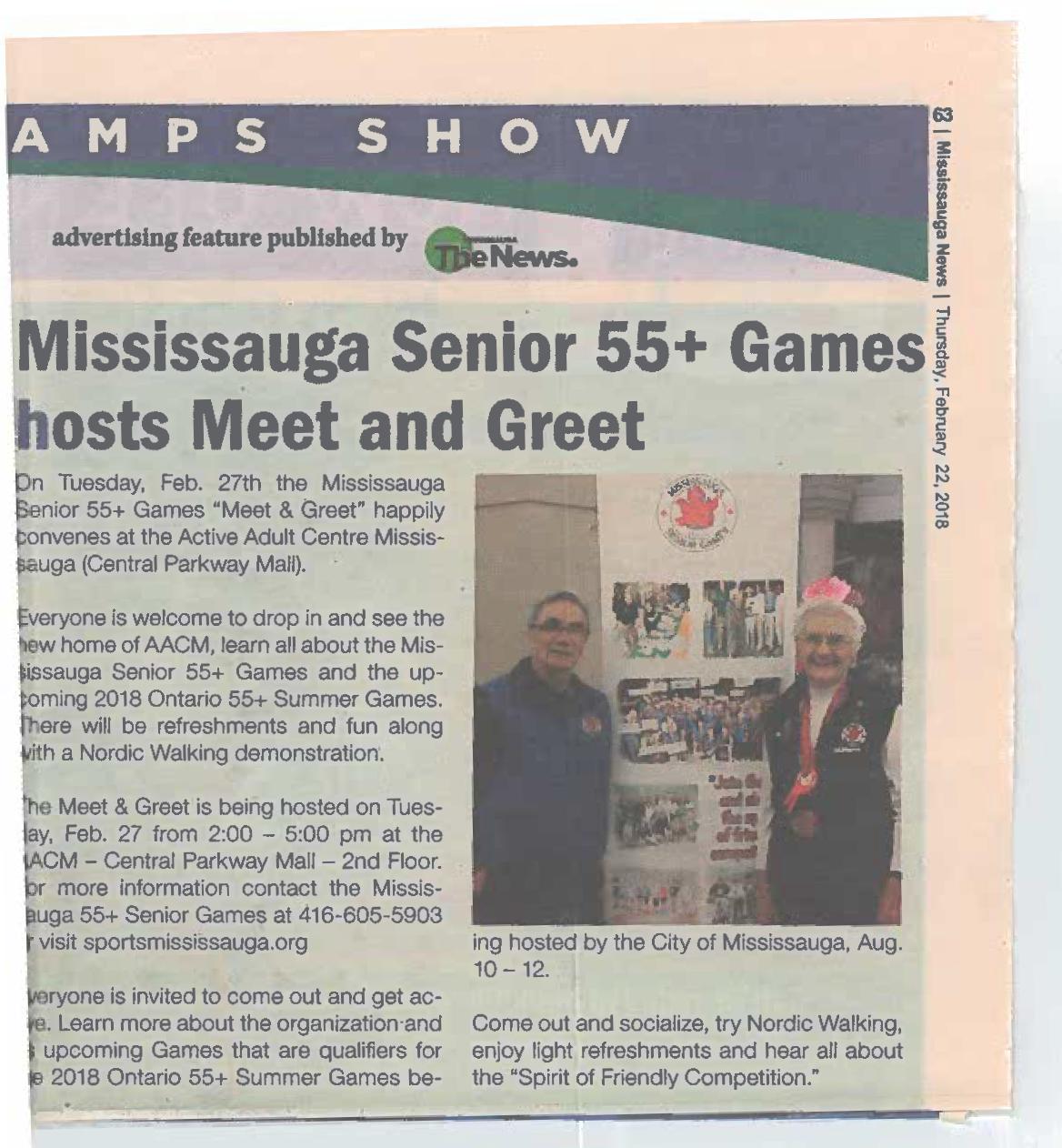 The Mississauga News | Thursday, February 22, 2018