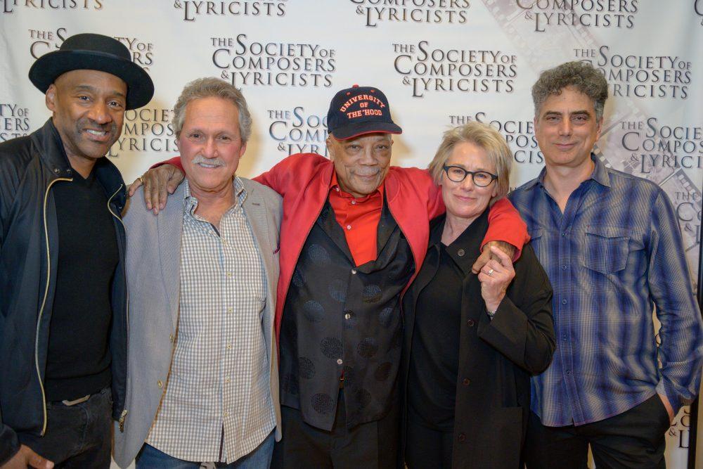 Marcus Miller, Joel Sill, Quincy Jones, Barbara Bentree, John Rangel CREDIT: EDDIE JAG