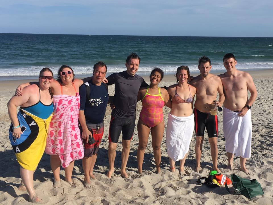 OWS campers after an ocean swim.