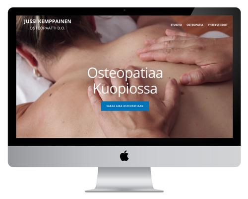 Osteopaatti Jussi K - Kotisivujen suunnittelu