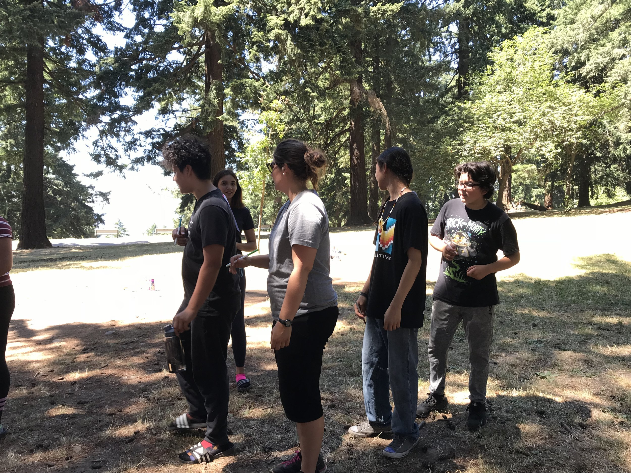 Playing games up at Mt. Tabor