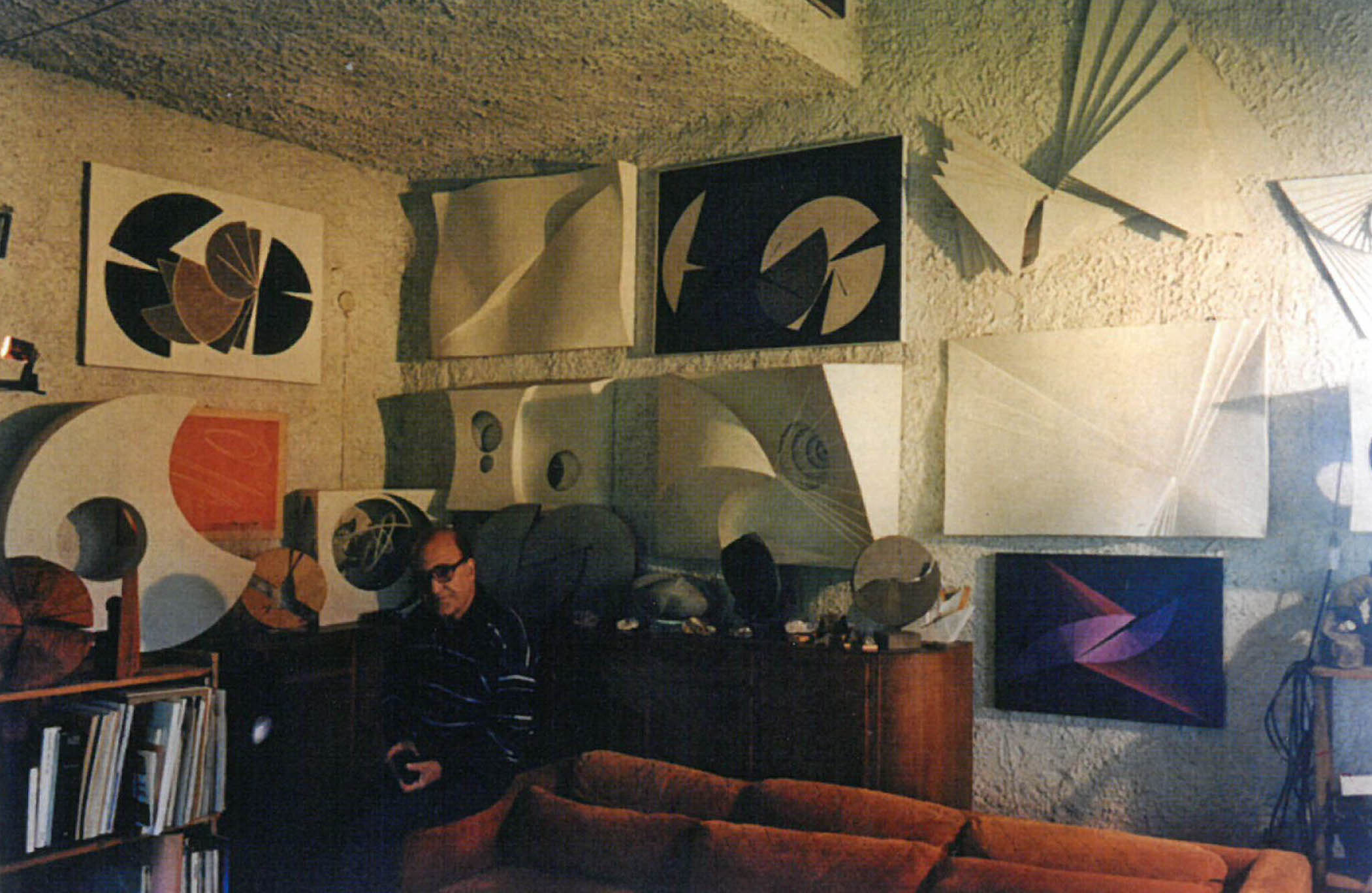 Claudio Del Sole in his studio in Manziana in the 1980's