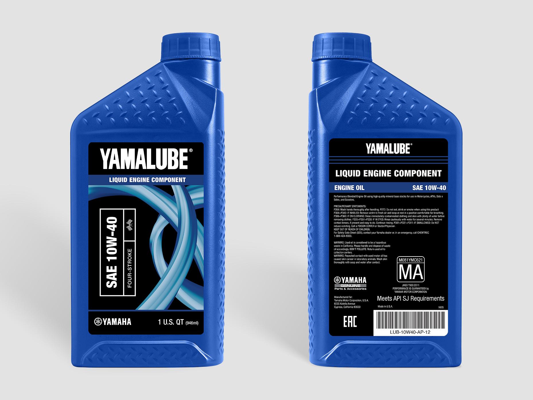Yamalube Bottle - Marine (Blue)