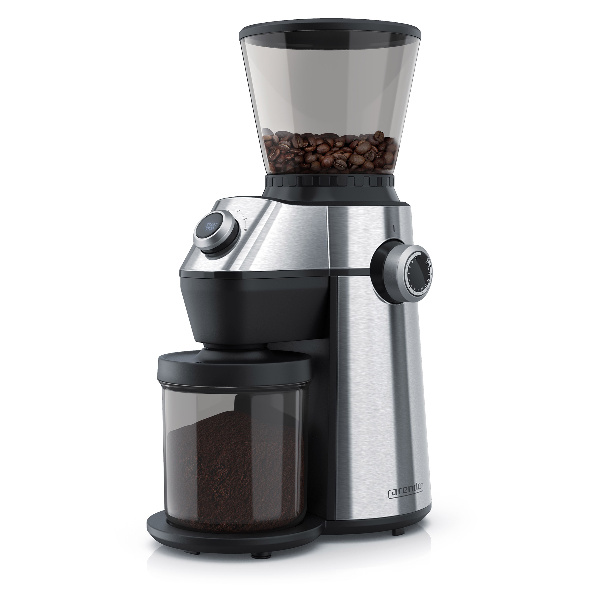 COPAN - ELEKTRISCHE KAFFEMÜHLEEdelstahl-DesignKegelmahlwerk360g Fassungsvermögen (Bohnenbehälter)150 Watt15 Stufen für Mahlgrad6 Stufen für MahldauerAromaschutzSpülmaschinenfester KaffeebehälterIntegrierter SicherheitsschalterGS zertifiziertMod. Nr.: 303236DIREKT BEI AMAZON KAUFENDIREKT BEI OTTO KAUFEN