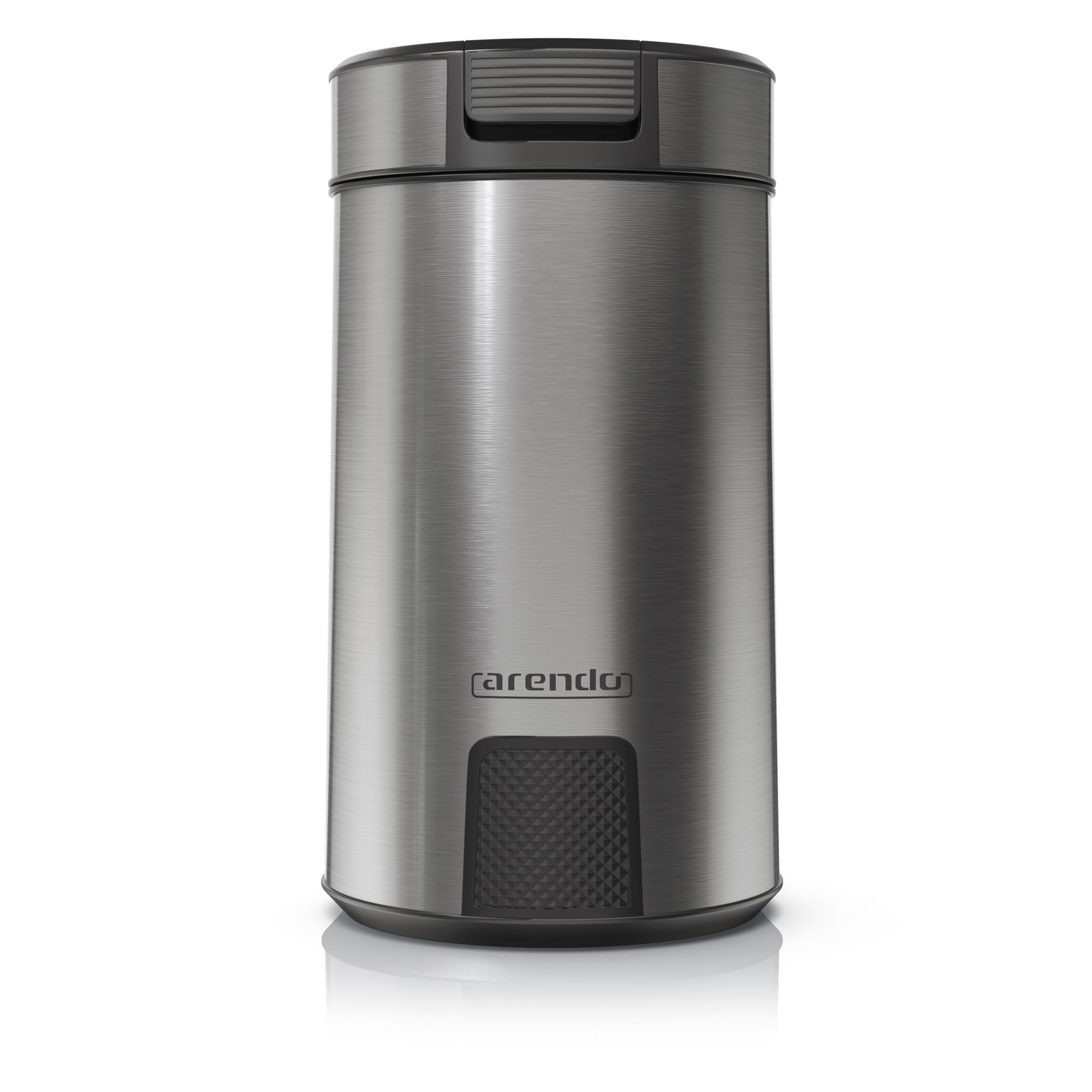MOSA - EDELSTAHL KAFFEEMÜHLE2-fach EdelstahlmesserEdelstahl Mixbehälter200WSchutzmechanismusMax . 60g FassungsvermögenAnti-Rutsch FüßeMod. Nr.: 303483DIREKT BEI AMAZON KAUFEN