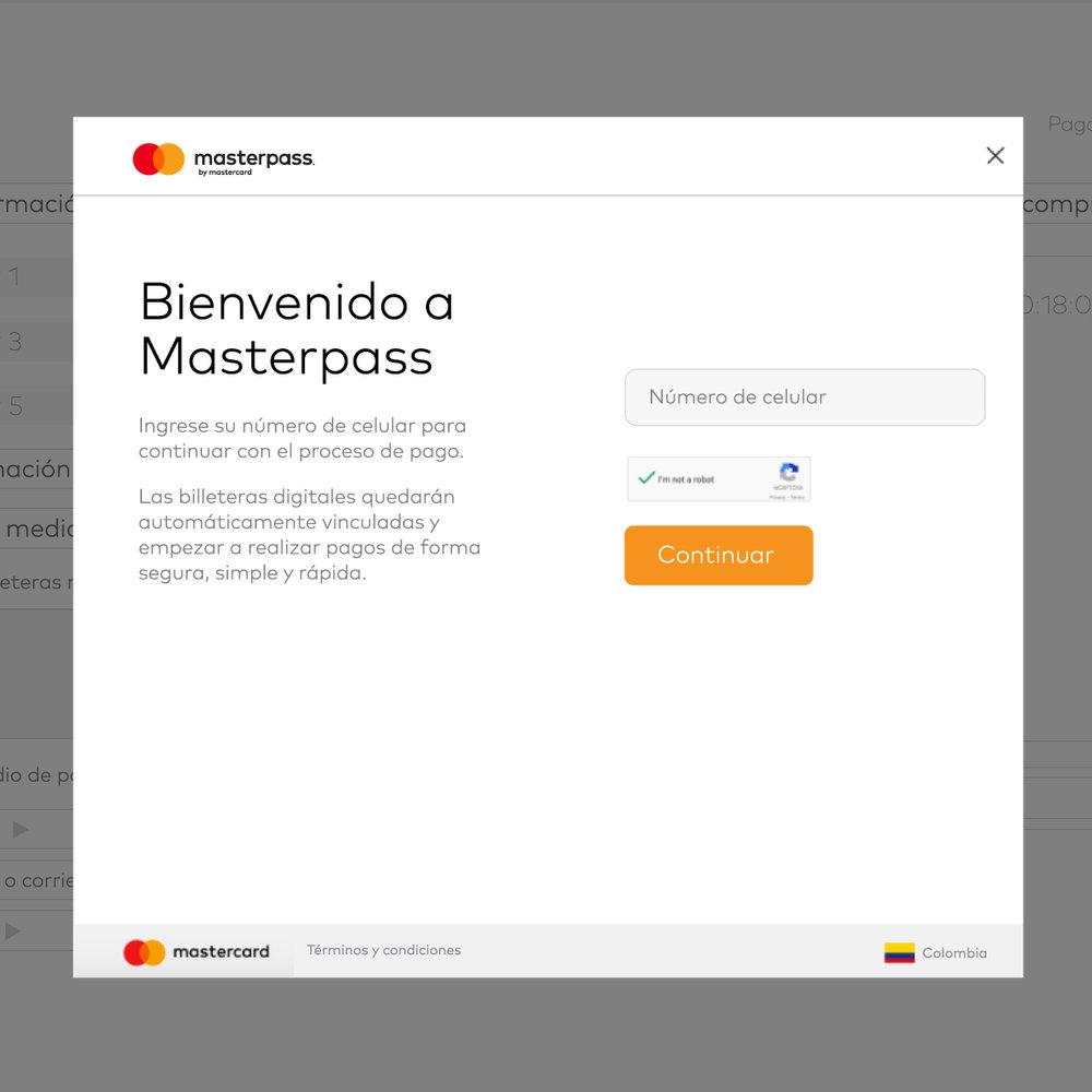 MASTERPASS  Customer journey, estrategia de UX/UI