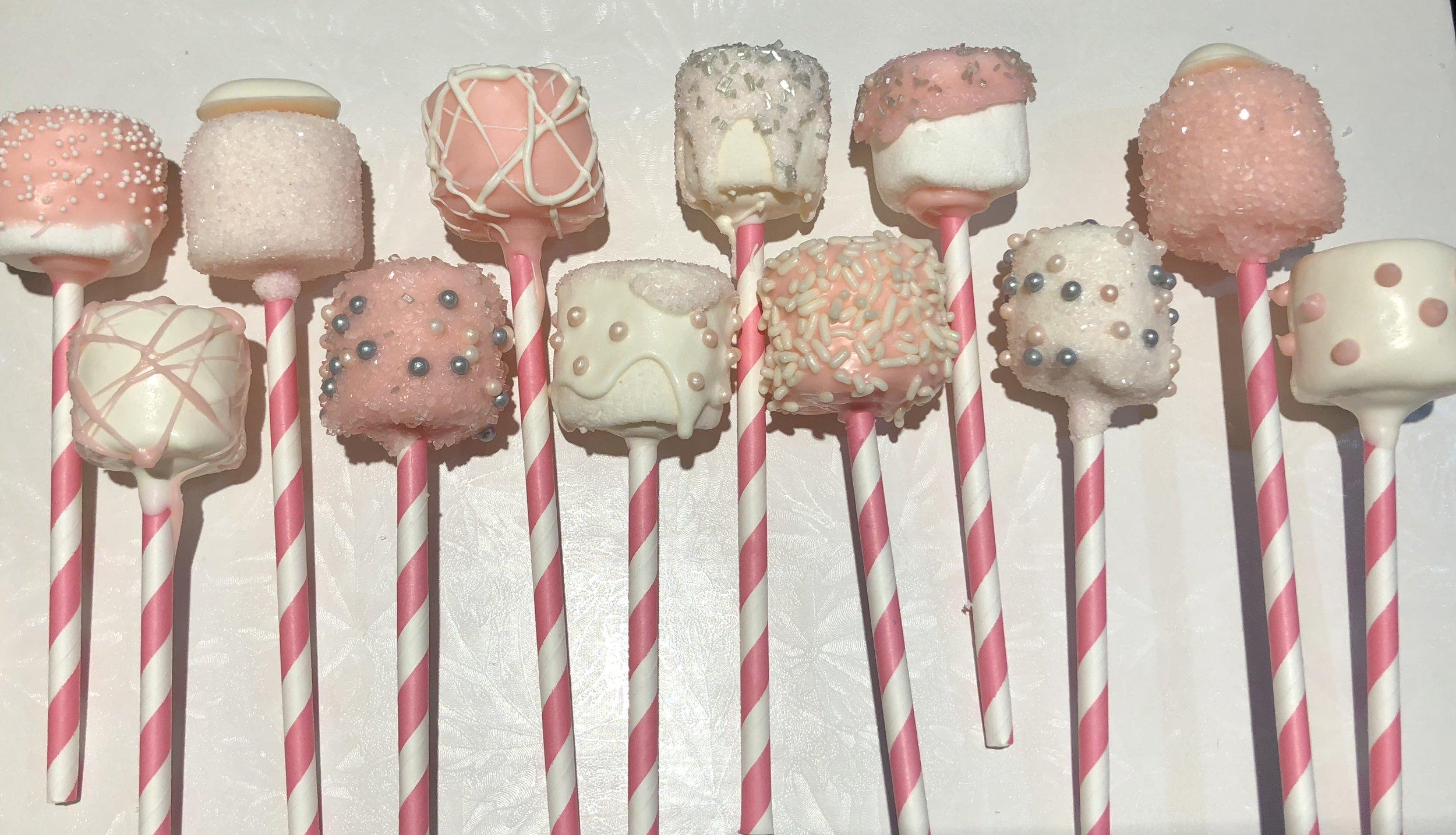 Pink Variety Marshmallow Pops