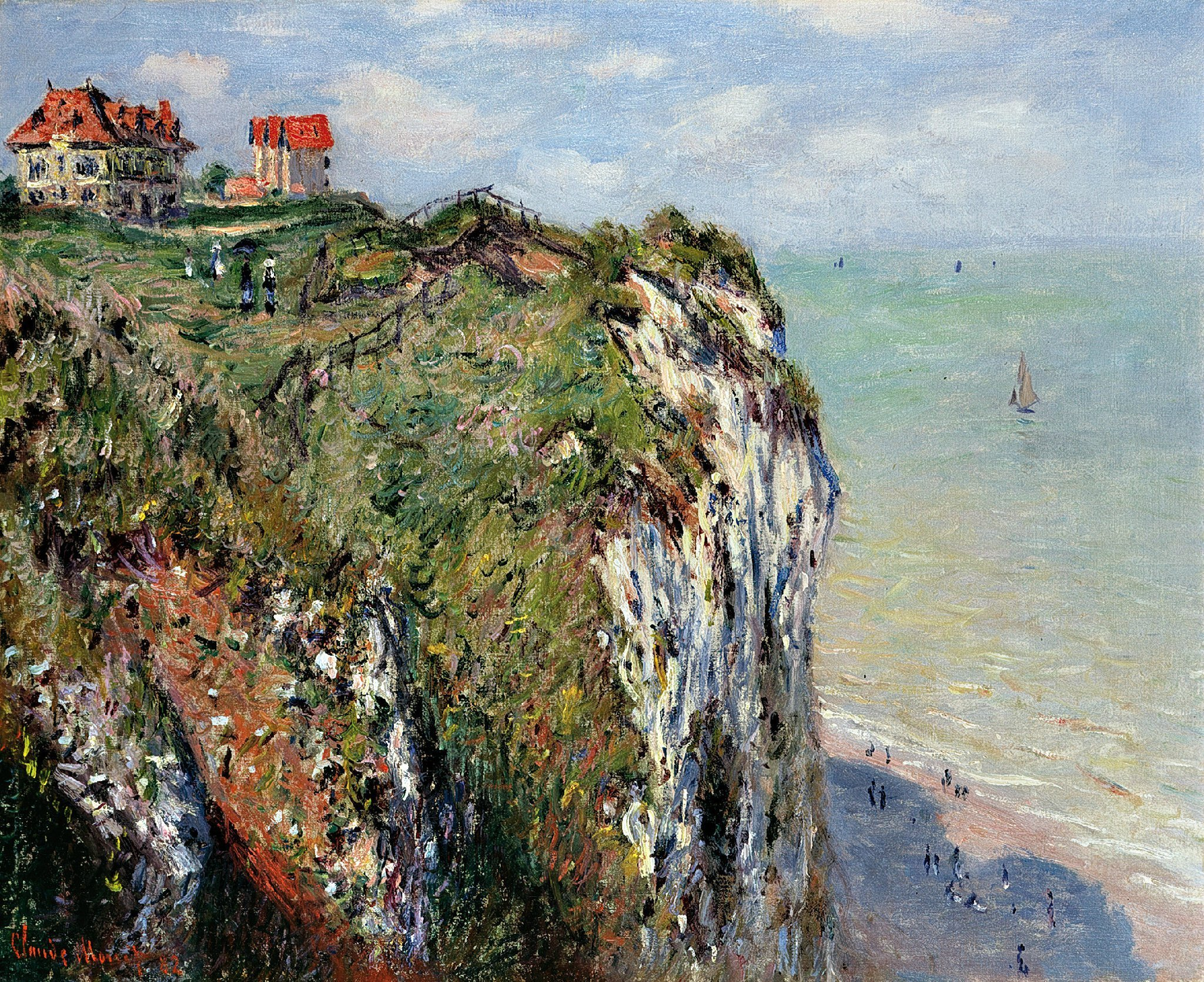 Claude Monet,  From the Top of the Cliff at Dieppe ,(1882) Kunsthaus Zurich