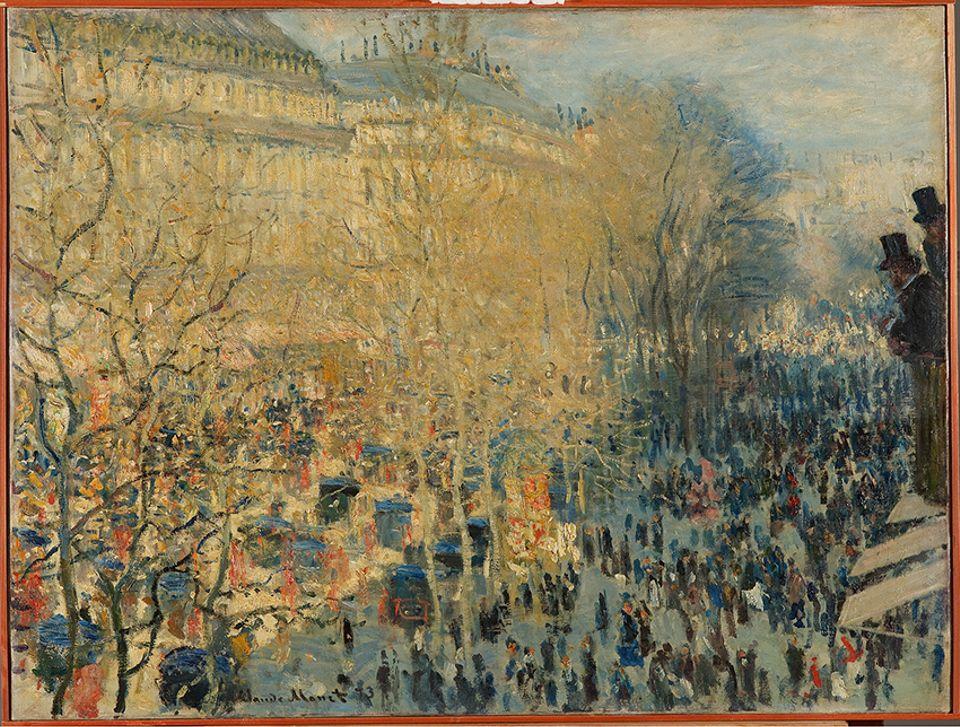 Claude Monet,  The Boulevard des Capucines,Paris ,(1873), The State Pushkin Museum of Fine Arts