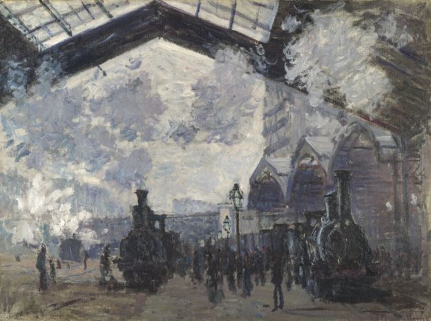 Claude Monet,  The Gare Saint-Lazare , (1877), The National Gallery