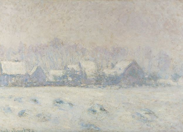 Claude Monet,  Snow Effect at Giverny,  (1893),New Orleans Museum of Fine Art