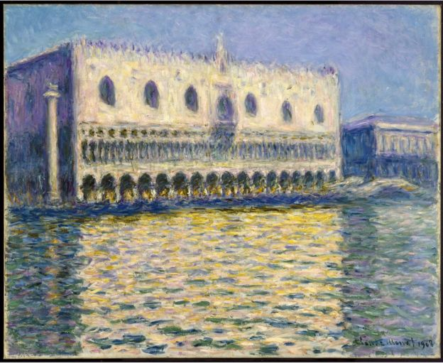 Claude Monet, The Doge's Palace, (1908), Brooklyn Museum