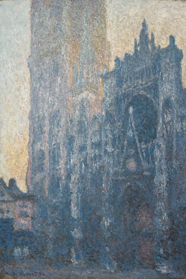Claude Monet,  Rouen Cathedral, The Portal, Morning Effect,(1894), Foundation Beyler,Riehan/Basel