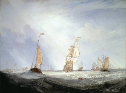 JMW Turner,  Helvoetsluys-The City of Utrecht Going to Sea,  1831, Tate
