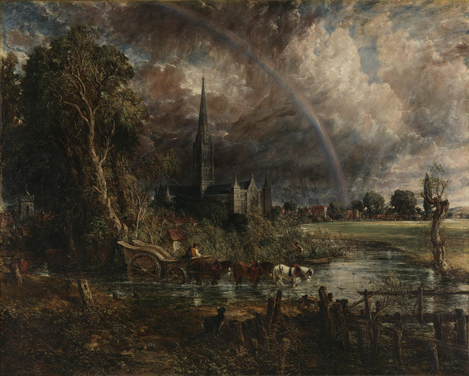 John Constable,  Salisbury Cathedral in the Meadows ,(exhibited 1831) ,Tate