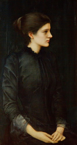 Edward Coley Burne-Jones, Portrait of Amy Gaskell , 1896,National Gallery of Victoria, Melbourne