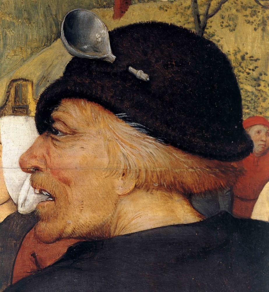 Pieter Bruegel the Elder, detail from  The Peasant Dance, c 1568, (Kunsthistorisches Museum,Vienna)