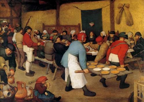 Pieter Bruegel the Elder,  The Peasant Wedding ,c1567, (Kunsthistsorisches Museum, Vienna)