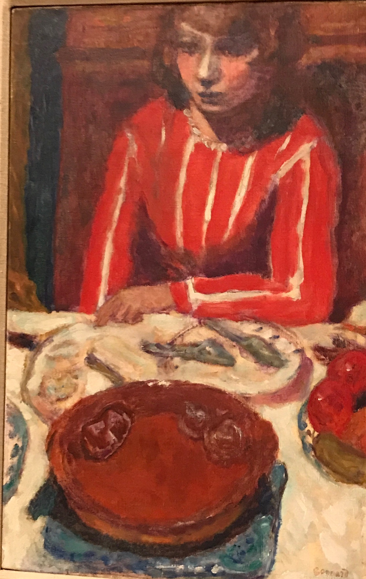 Pierre Bonnard, Femme a Table, 1926, (private collection)