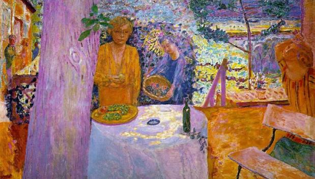 Pierre Bonnard, The Terrace at Vernon (1939)