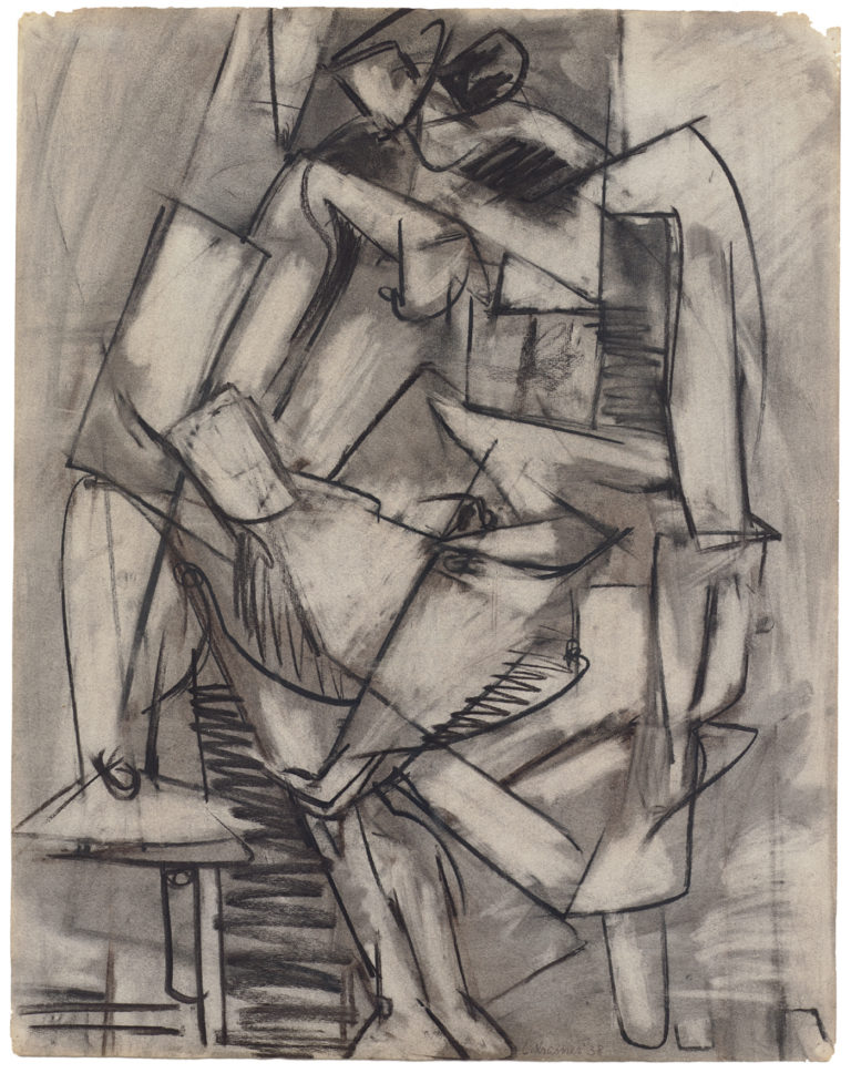 Lee Krasner, Nude Study From Life,1938, Pollock-Krasner Foundation