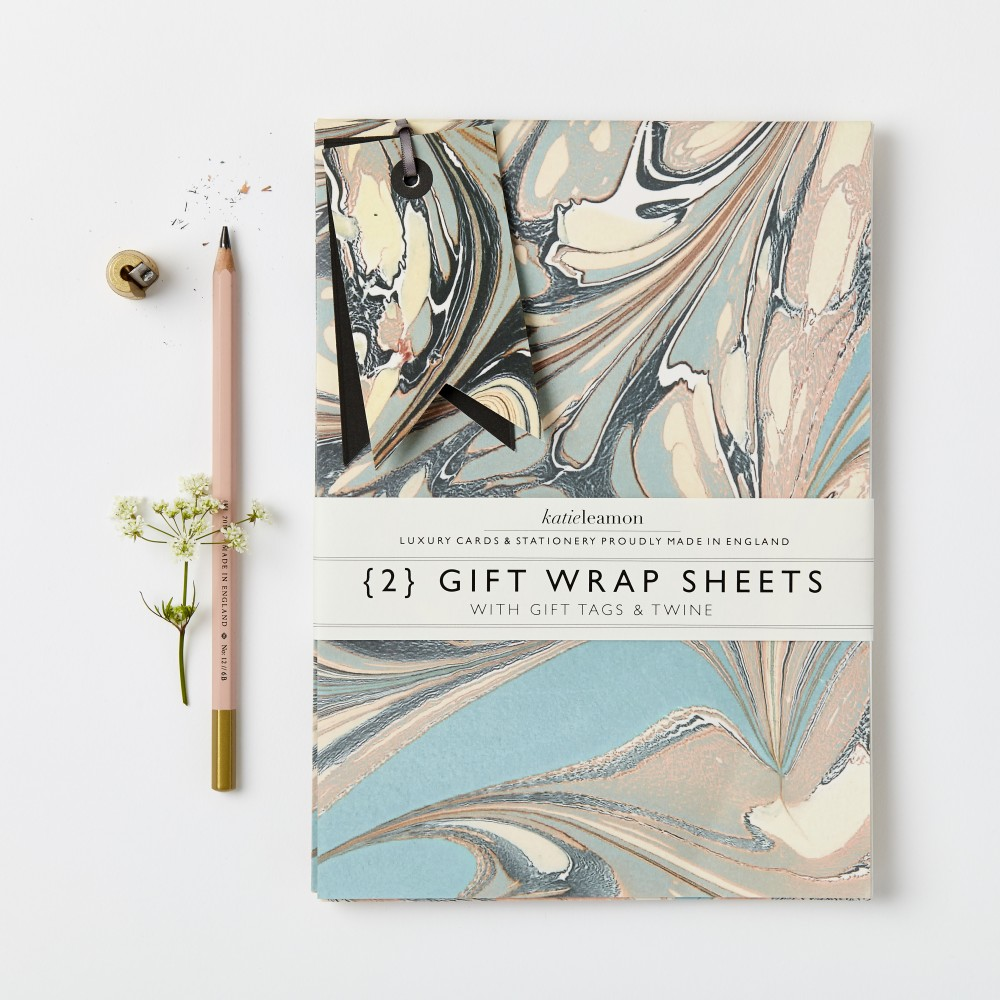 Katie Leamon Marble Effect Wrap Sheets