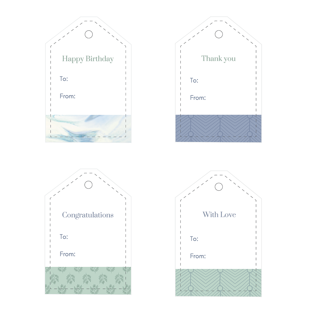 Set of 12 Free Printable Gift Tags