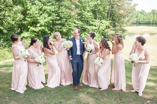 Spencer & Allison and their wedding party had as smiling all day. Such a fun group of people and we loved getting to celebrate with them!