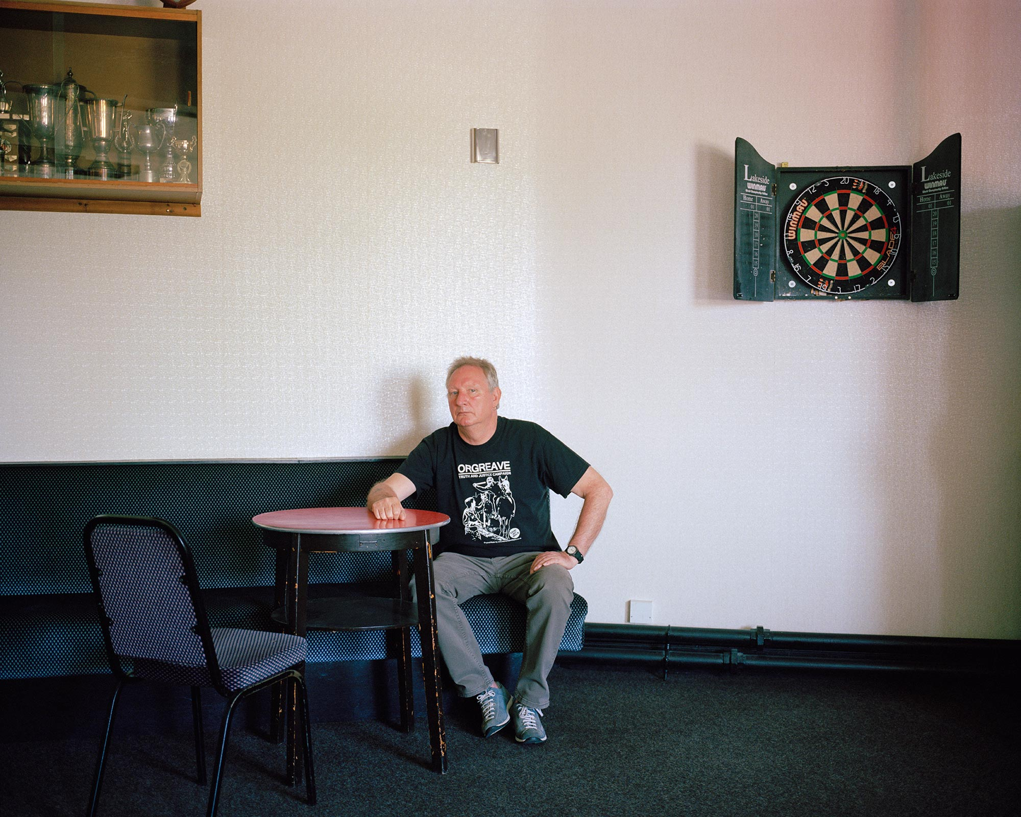 Kevin Horne, Treeton Miners Welfare, near Orgreave, South Yorkshire.
