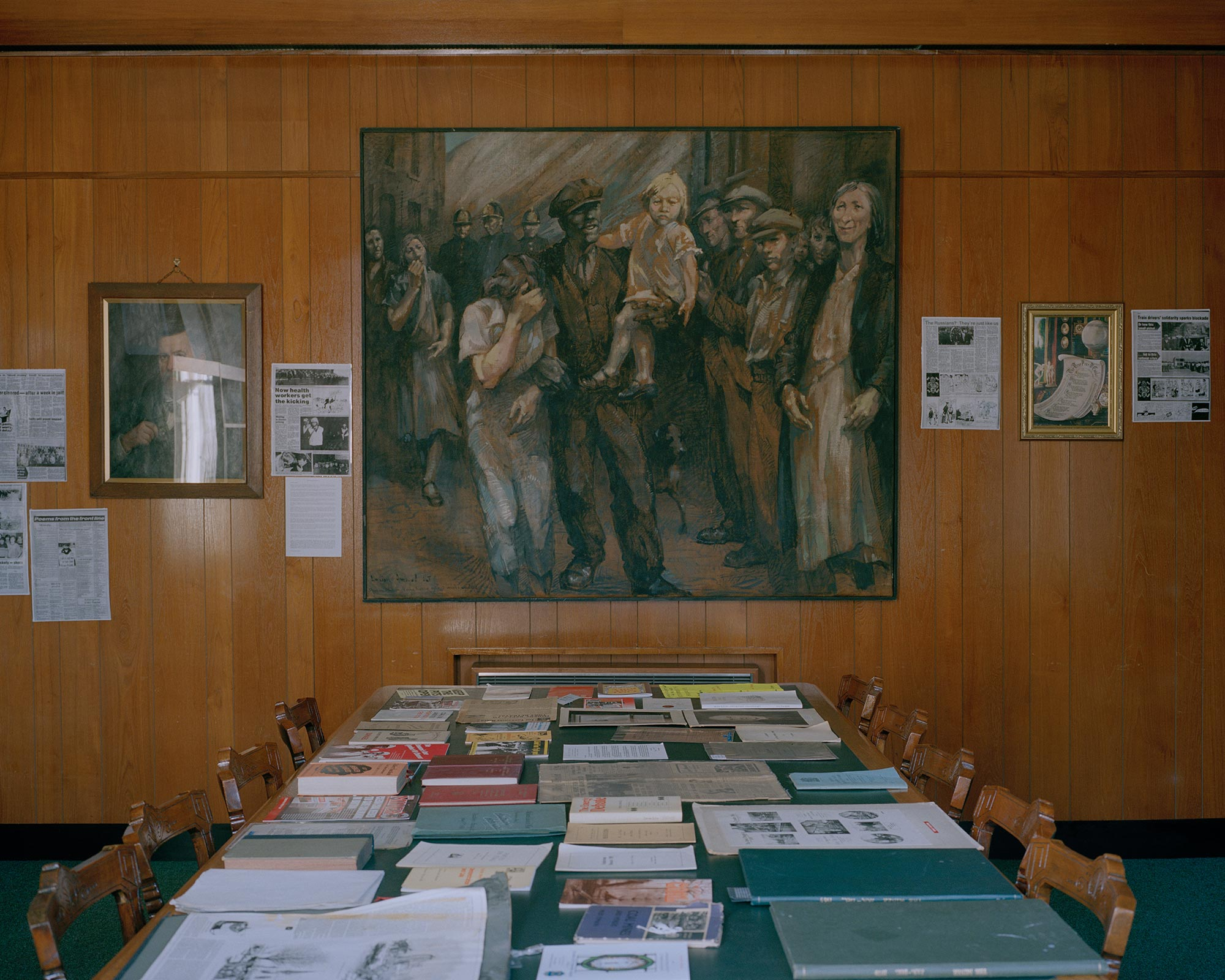 Artwork in the National Union of Mineworkers' collection, Barnsley, South Yorkshire.