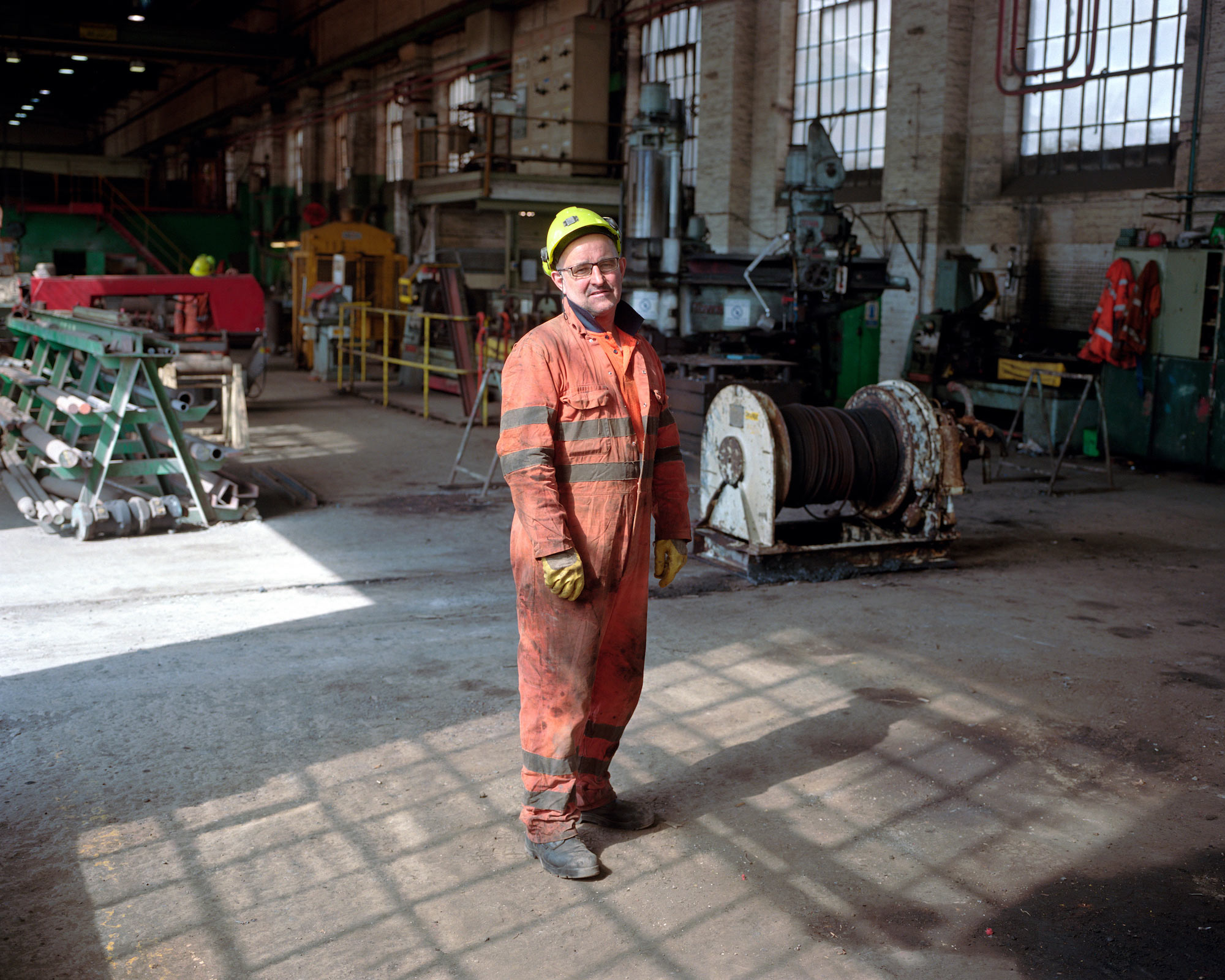 Andrew McKenzie, a foreman mechanic at the Thoresby Colliery, Nottinghamshire.